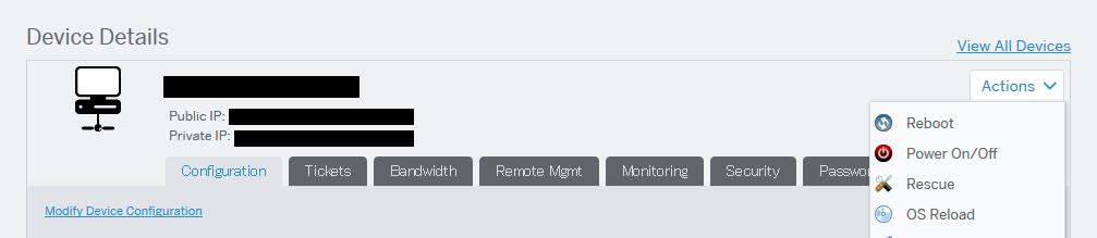 OS ReloadでOSを初期化する #softlayer