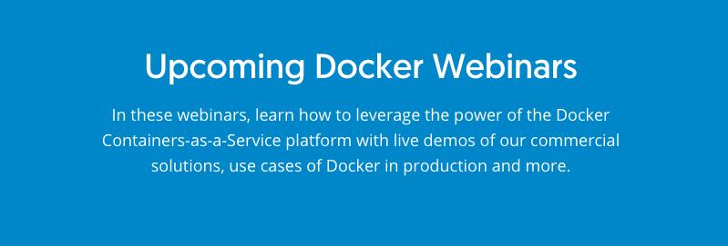 Docker社公式Webinar(日本語版)を実施いたします。#docker