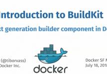 (Japanese text only.) [和訳] Dockerサンフランシスコ・チャプターMeetup: BuildKitとコンテナオーケストレーション #docker